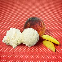 Pfirsich-Mascarpone-Milcheis selber machen